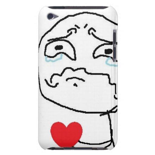 Broken Heart Comic Face iPod Case-Mate Case