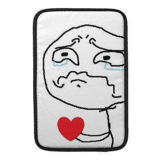 Broken Heart Comic Face MacBook Sleeve