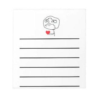 Broken Heart Comic Face Notepad