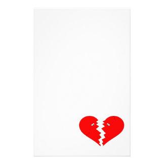 Broken Heart Face Stationery