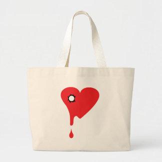 broken heart icon tote bag