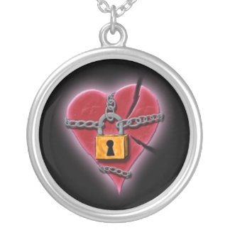 Broken Heart in Chains Necklace