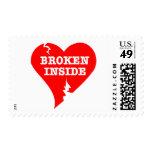 Broken Heart Inside Stamp