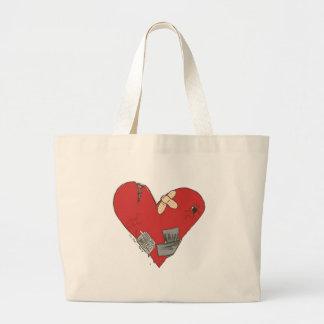 Broken-Heart Large Tote Bag