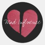 Broken Heart Logo Round Stickers