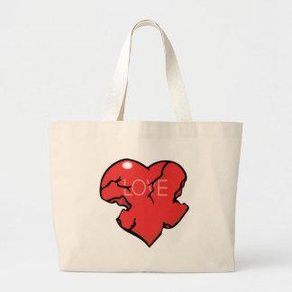 Broken Heart Love Canvas Bag