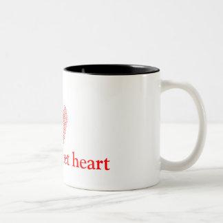 broken+heart, love u sweet heart Two-Tone coffee mug