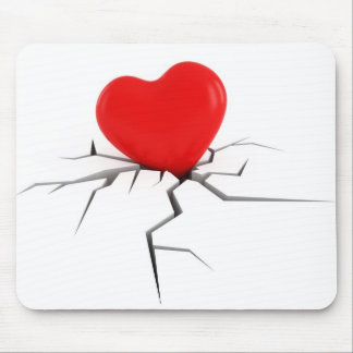 Broken Heart Mouse Pad