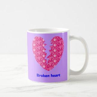 Broken heart classic white coffee mug