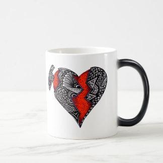 Broken Heart 11 Oz Magic Heat Color-Changing Coffee Mug