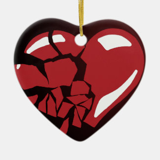 Broken Heart Christmas Ornaments