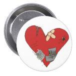 Broken-Heart Pinback Button