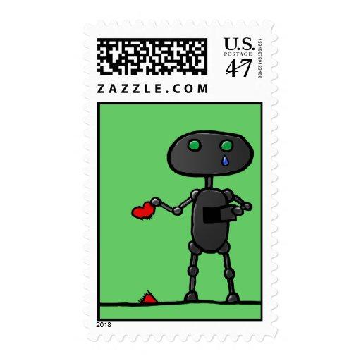 Broken Heart Postage Stamps