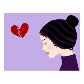 Broken heart - Postcard
