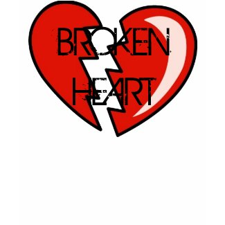 BROKEN HEART RED DESIGN T SHIRT shirt