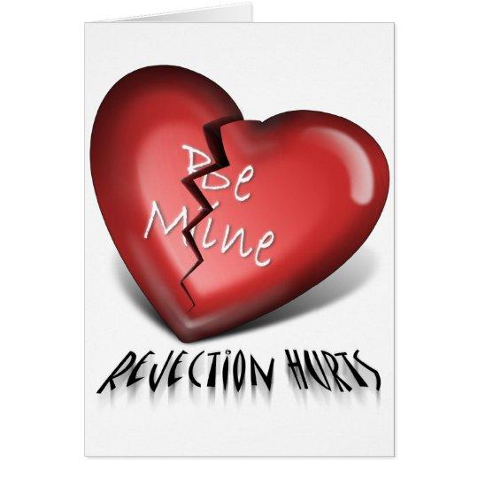 broken heart, rejection hurts card