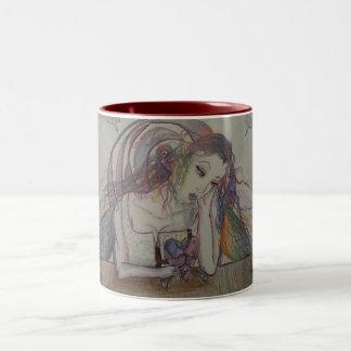 Broken Heart Rose 11oz Two-Tone Coffee Mug