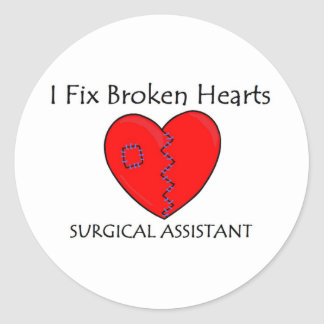 Broken Heart SA 1 Classic Round Sticker