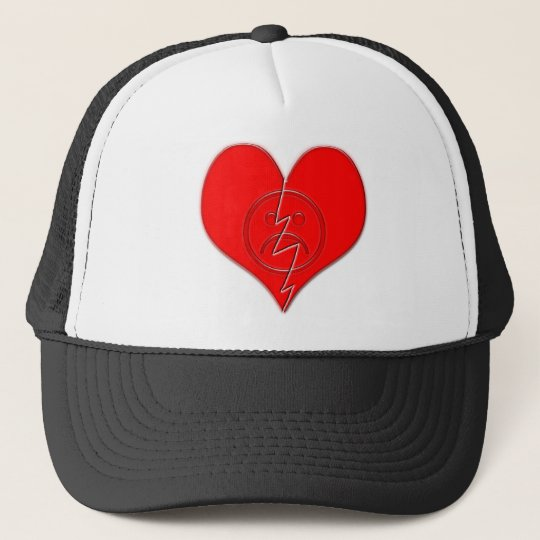 Broken Heart Sad Face Trucker Hat
