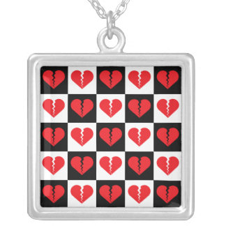 Broken Heart Silver Plated Necklace