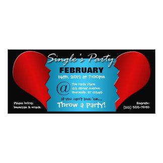 Broken Heart Single s Party - 9 25 x4 Invitations