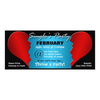 "Broken Heart Single's Party - 9.25""x4"" Invitations"