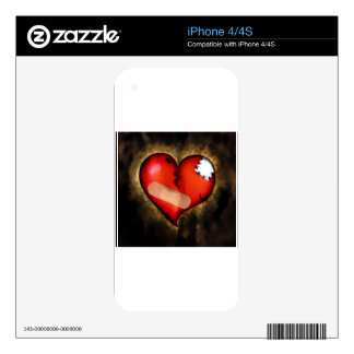 broken heart skins for the iPhone 4S