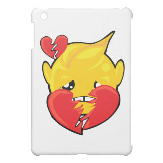 broken heart smiley face iPad mini cover