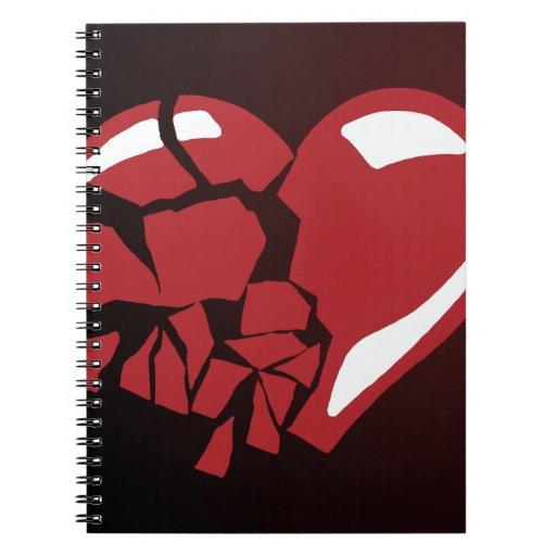 Broken Heart Spiral Notebooks