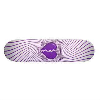 Broken Heart & Tribal Artwork: Purple: Skateboard