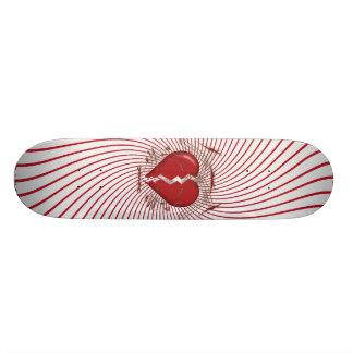 Broken Heart & Tribal Artwork: Red: Skateboard