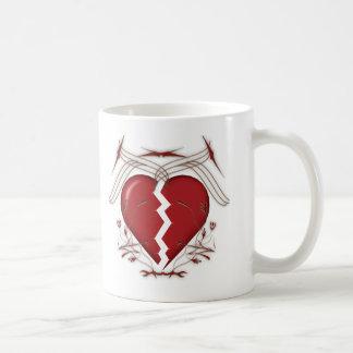 Broken Heart & Tribal Graphics: Coffee Mug
