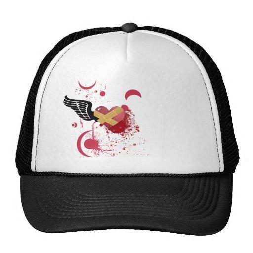 Broken heart trucker hat