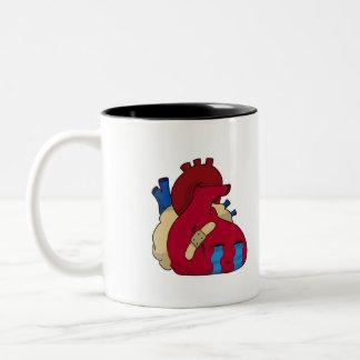 Broken heart Two-Tone coffee mug