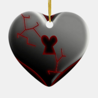 Broken Heart Valentine Ornament