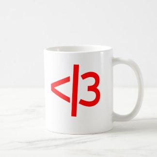 broken heart / valid heart mug