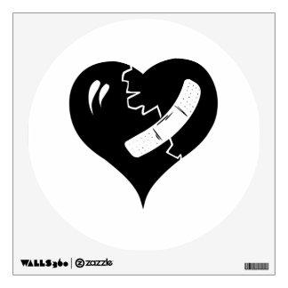 Broken Heart Wall Decals