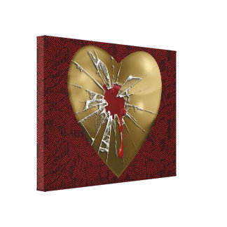 Broken Heart Wrapped Canvas Gallery Wrap Canvas