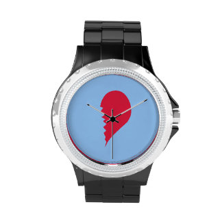 Broken Heart Wrist Watch