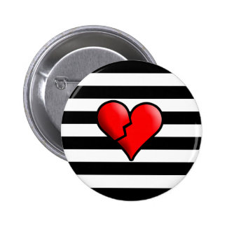 Broken Hearted 2 Inch Round Button