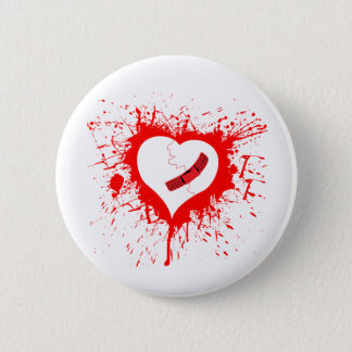 Broken Hearted...again - Emo Alternative Grunge Button