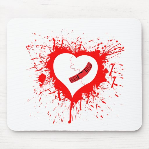 Broken Hearted...again Mouse Mat