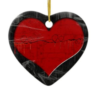 Broken Hearted Gothic Ornament ornament