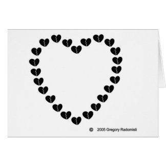 Broken Hearted Heart by Gregory Radomisli Greeting Cards