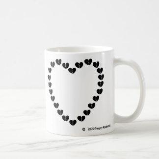 Broken Hearted Heart Classic White Coffee Mug