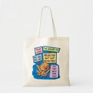 Broken hearted little bird boy tote bag