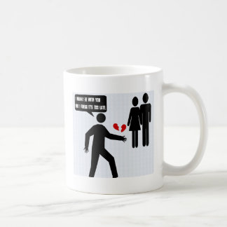 broken hearted classic white coffee mug