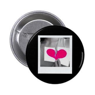 Broken Hearted Pinback Button