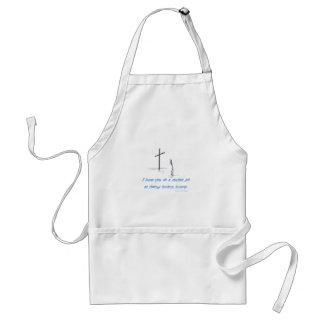 broken hearts adult apron