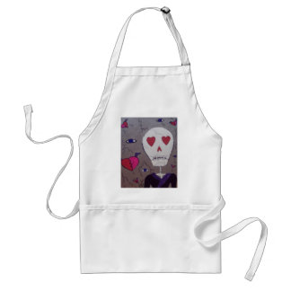Broken hearts and Grimm Adult Apron